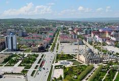 Vista aérea de Grozny Imagem de Stock Royalty Free