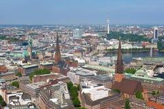 Vista aérea de Hamburgo imágenes de archivo libres de regalías