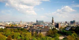 Vista aérea de Hamburgo imagen de archivo