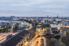 Vista aérea de Hamburgo fotografía de archivo libre de regalías