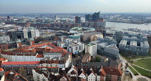 Vista aérea de Hamburgo, Alemania fotografía de archivo