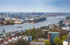 Vista aérea de Hamburgo. Opinión típica de la calle en de Hamburgo, Ger foto de archivo libre de regalías