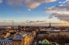 Vista aérea de Helsínquia fotografia de stock