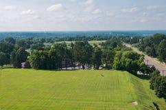 Vista aérea de Highland Park y de Saint Paul Imagenes de archivo