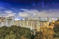 Vista aérea de Hong-Kong Imagen de archivo libre de regalías