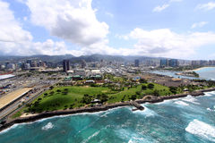 Vista aérea de Honolulu Fotografía de archivo libre de regalías