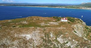Vista aérea de ilhas de Saint video estoque