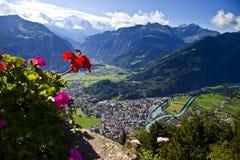 Vista aérea de Interlaken foto de archivo libre de regalías