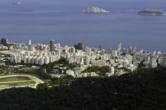 Vista aérea de Ipanema em Rio de Janeiro Foto de Stock Royalty Free
