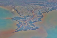 Vista aérea de Jakarta Foto de archivo