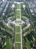 Vista aérea de jardines Fotografía de archivo