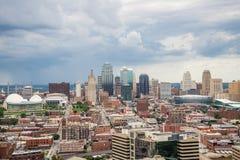 Vista aérea de Kansas City missouri fotografia de stock royalty free