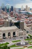 Vista aérea de Kansas City missouri imagens de stock royalty free