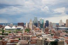 Vista aérea de Kansas City missouri imagem de stock
