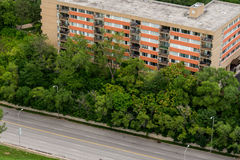 Vista aérea de Kansas City missouri foto de stock