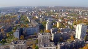 Vista aérea de Katowice céntrico, provincia superior de Silesia, Polonia metrajes