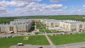 Vista aérea de Kemerovo - cidade em Rússia video estoque