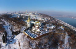 Vista aérea de Kiev-Pechersk Lavra Foto de Stock Royalty Free