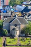 Vista aérea de Kirk do Canongate Edimburgo fotografia de stock