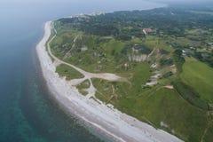 Vista aérea de Klintebjerg, Dinamarca imagenes de archivo