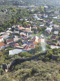 Vista aérea de Kotor imagens de stock royalty free