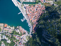 Vista aérea de Kotor Imagem de Stock