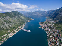 Vista aérea de Kotor Imagen de archivo