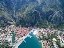 Vista aérea de Kotor Fotografía de archivo