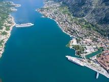 Vista aérea de Kotor Fotografía de archivo libre de regalías