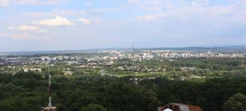 Vista aérea de Kraków, Polonia Imágenes de archivo libres de regalías