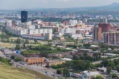 Vista aérea de Krasnoyarsk Fotografia de Stock