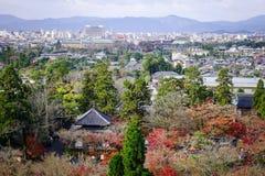 Vista aérea de kyoto, japão Imagem de Stock