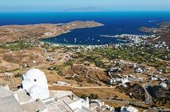 Vista aérea de Kythnos Imágenes de archivo libres de regalías