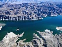 Vista aérea de la aguamiel del lago. Foto de archivo libre de regalías