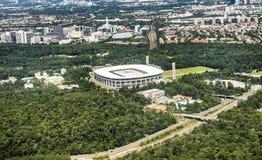 Vista aérea de la arena de Commerzbank en Francfort Imagen de archivo libre de regalías