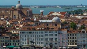 Vista aérea de la arquitectura asombrosa en Venecia, las atracciones y turismo, viaje almacen de metraje de vídeo