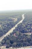 Vista aérea de la autopista sin peaje A100 en Berlín Foto de archivo