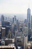 Vista aérea de la avenida de Michigan en Chicago fotos de archivo