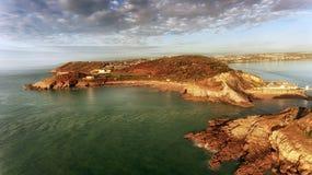 Vista aérea de la bahía de la pulsera Imagen de archivo