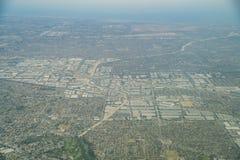Vista aérea de la Buena Park, Cerritos foto de archivo