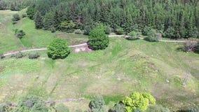 Vista aérea de la cañada entre Oban y Taynuilt, Argyll almacen de metraje de vídeo