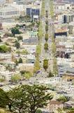 Vista aérea de la calle de mercado, Castro, San Francisco Fotos de archivo