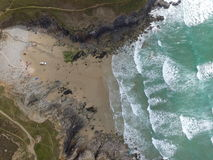 Vista aérea de la capilla Porth Fotografía de archivo