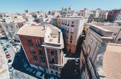 Vista aérea de la capital de Cerdeña de la torre más alta Fotografía de archivo