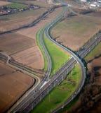 Vista aérea de la carretera Imagen de archivo libre de regalías