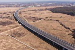 Vista aérea de la carretera imagenes de archivo