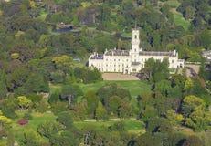 Vista aérea de la casa del gobierno en Melbourne, Victoria Imagen de archivo