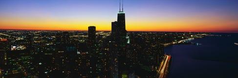 Vista aérea de la Chicago Imágenes de archivo libres de regalías