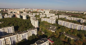 Vista aérea de la ciudad Fotografía de archivo libre de regalías