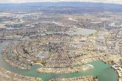 Vista aérea de la ciudad adoptiva hermosa cerca de San Francisco imagenes de archivo